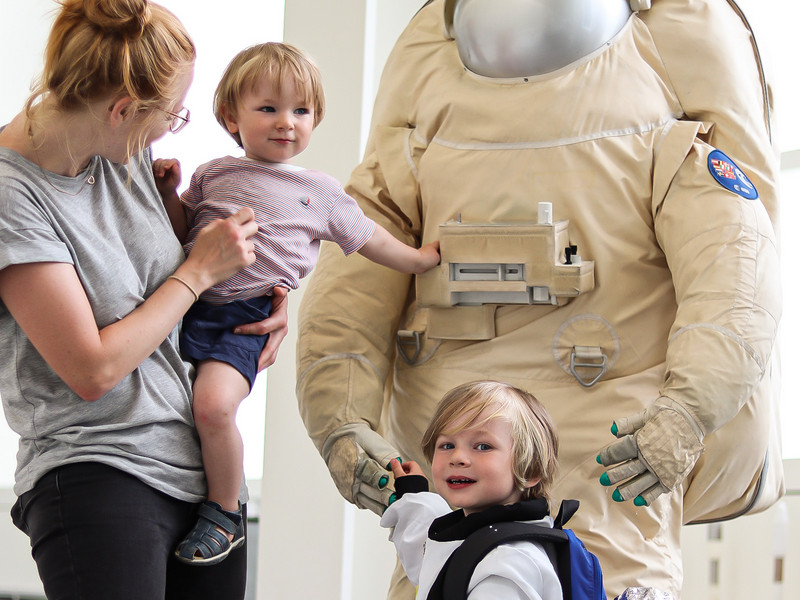 Space Travel Exhibition for kids at the Dornier Museum